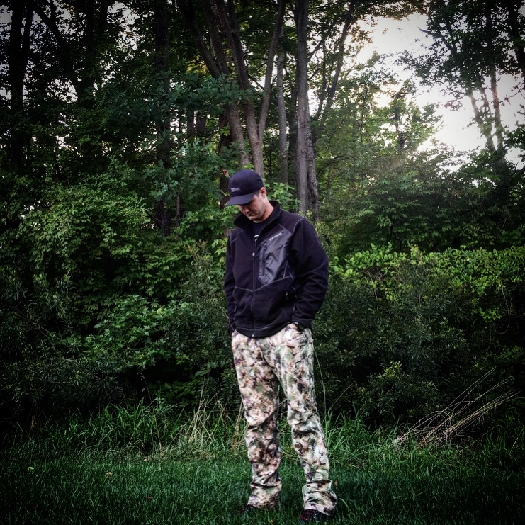 Beyond Fleece with the Rig Light pants in the Orion Design Group Lupus pattern