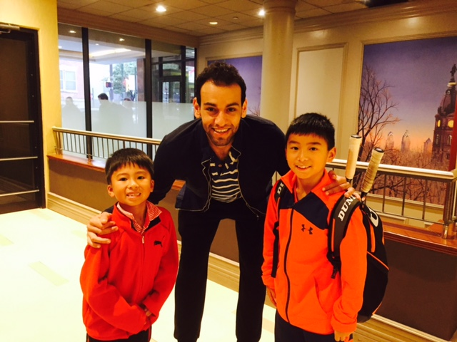 While Oliver Velasco was participating in the JCT at Drexel University on the weekend of October 8th, Oliver and his brother Luke meet Mohamed el Shorbagy who is ranked number 1 in the world.