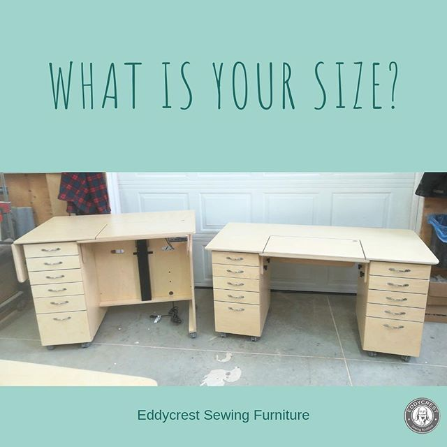 Fun fact! we can build your furniture at different heights. More people are moving towards sewing standing up, would you do it? What do you think?