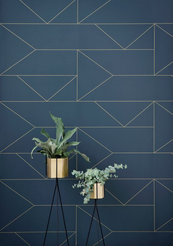 THE INSPIRATION - Not ready to try your hand at tiling?  You can achieve this look via 'The Lines' wallpaper by Ferm Living.  It's modern art deco inspired pattern is available is various shades.