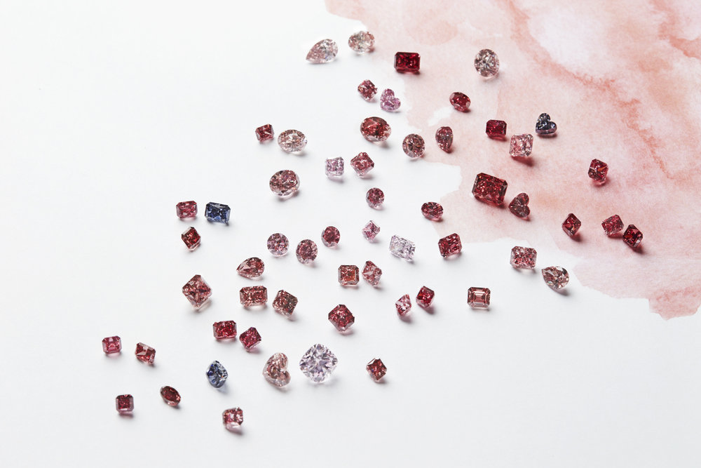 The 2017 Argyle Pink Diamonds Annual Tender - featuring the top red, pink and violet stones to come from the Australian mine in 2017.