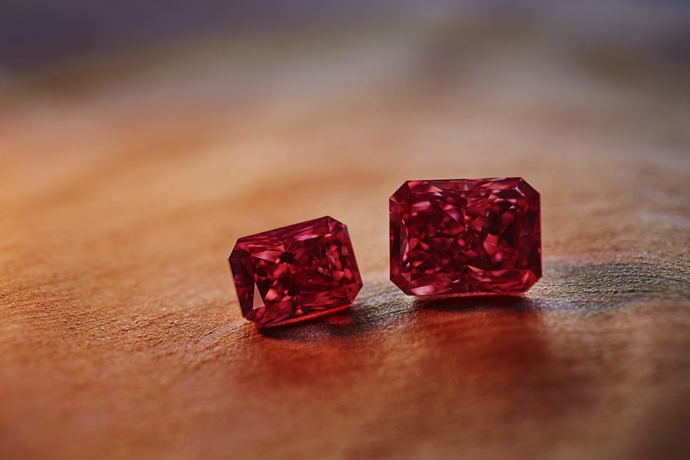 The radiant-cut, 2.11-carat, fancy-red, VS2-clarity polished diamond is the centerpiece of this year's sale. Dubbed the Argyle Everglow, it belongs to a rare category