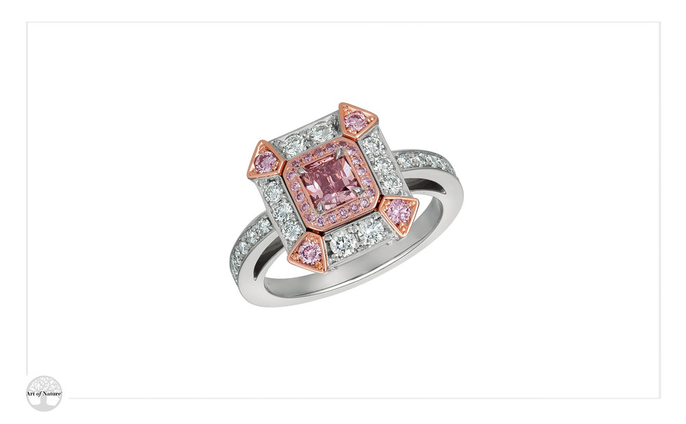 Skyline - Fancy Deep Pink Ring
