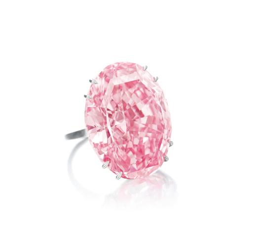 Pink Star, a 59.60-carat oval mixed cut Fancy Vivid Pink Internally Flawless jewel
