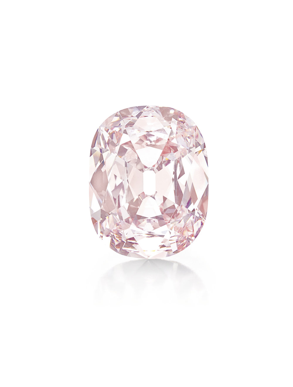 The Princie Pink, a 34.65 carat cushion cut Fancy Intense Pink diamond with VS2 clarity (GIA)
