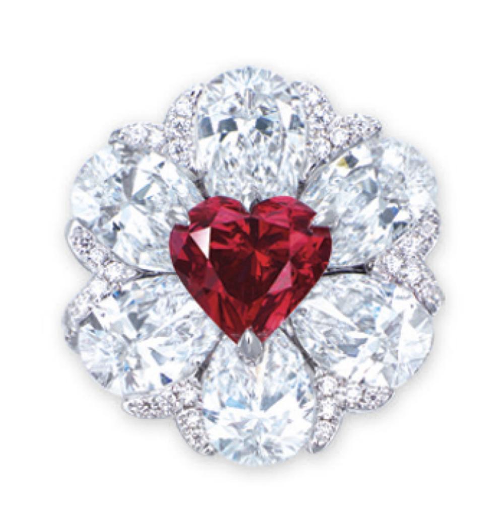 2.09-carat heart shape fancy red diamond SI2 (GIA)