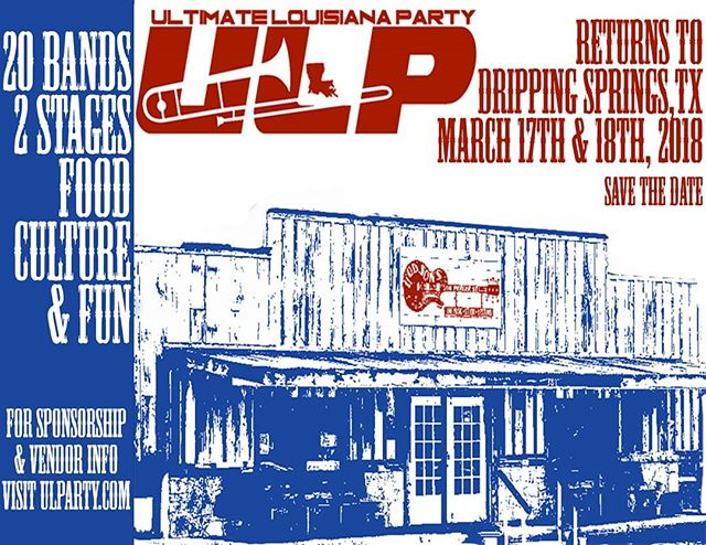 Closing out #sxsw2018 out in Dripping Springs tomorrow at 8pm. Get out of the city and come hang. . . . . . #sxsw #ultimatelouisianaparty #drippingsprings #austin #atx #livemusic #rocknroll #blues #thebanisters