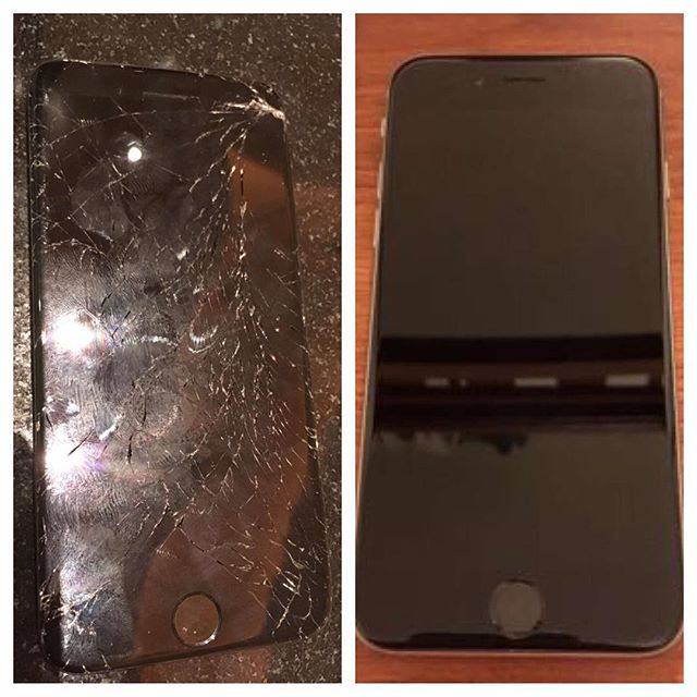 The difference is night and day! #screenrepair #crackediphone #iphonerepair  #houstoniphonerepair #dallasiphonerepair