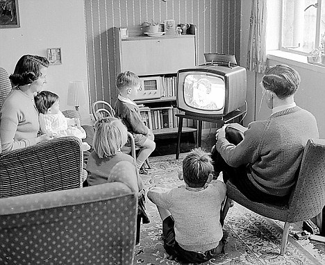 Families who grew up watching TV still talked to one another.