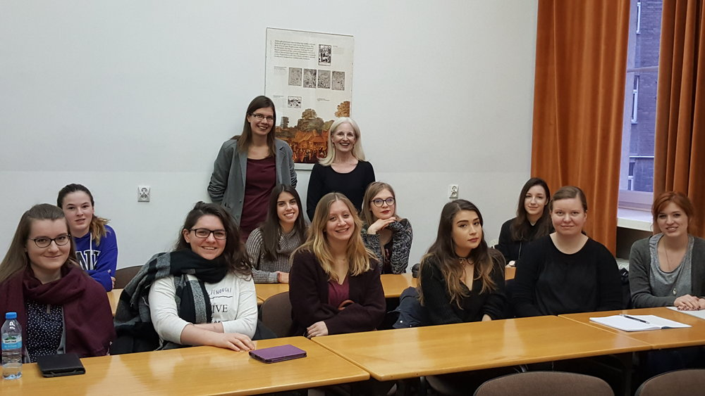 University of Warsaw English Students, with Professor Justin Wlodarczyk, January 9, 2018