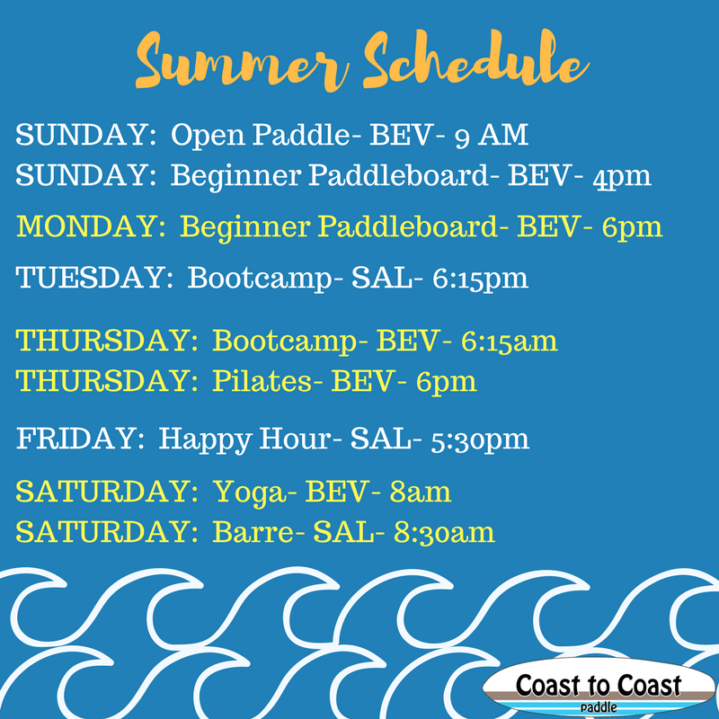 Coast to Coast Paddle Summer Paddle Schedule