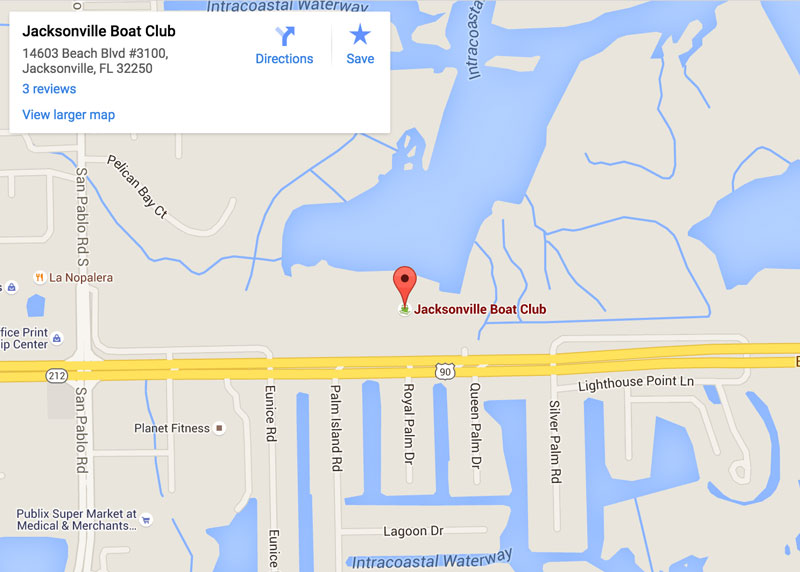 Jacksonville Boat Club location