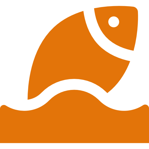 a fish jumping out of water