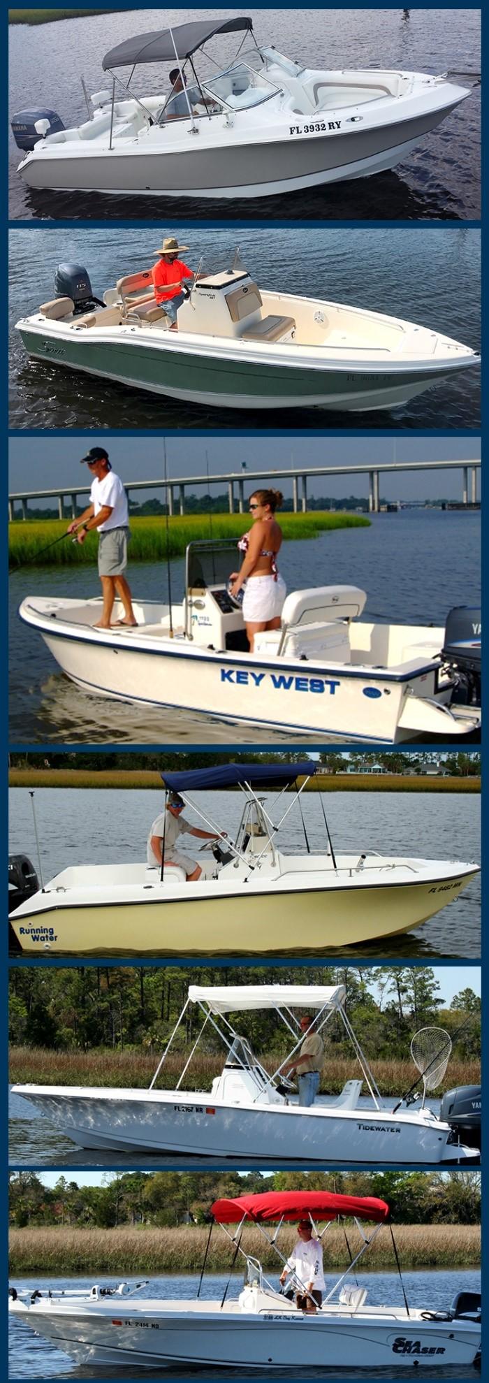 A few of the boats in the Jax Boat Club Fishing Fleet