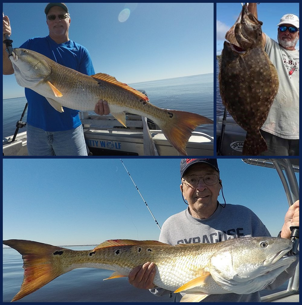 Captain Sipler - bull redfish and large flounder in Jacksonville