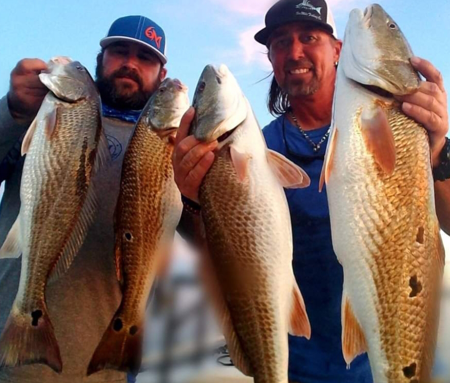 Captain Taylor redfish catches in Jacksonville