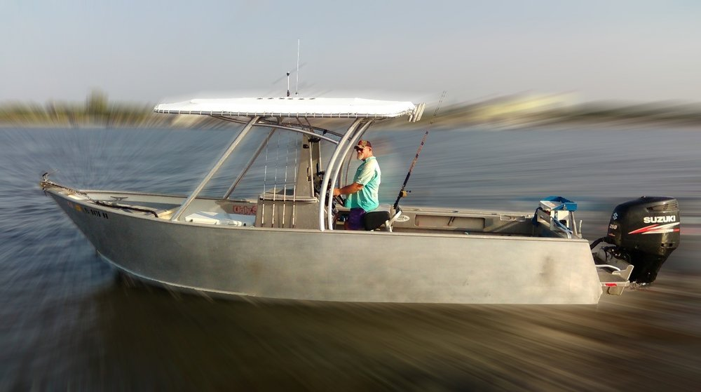 Captain Dave Sipler heading out to fish in Jacksonville