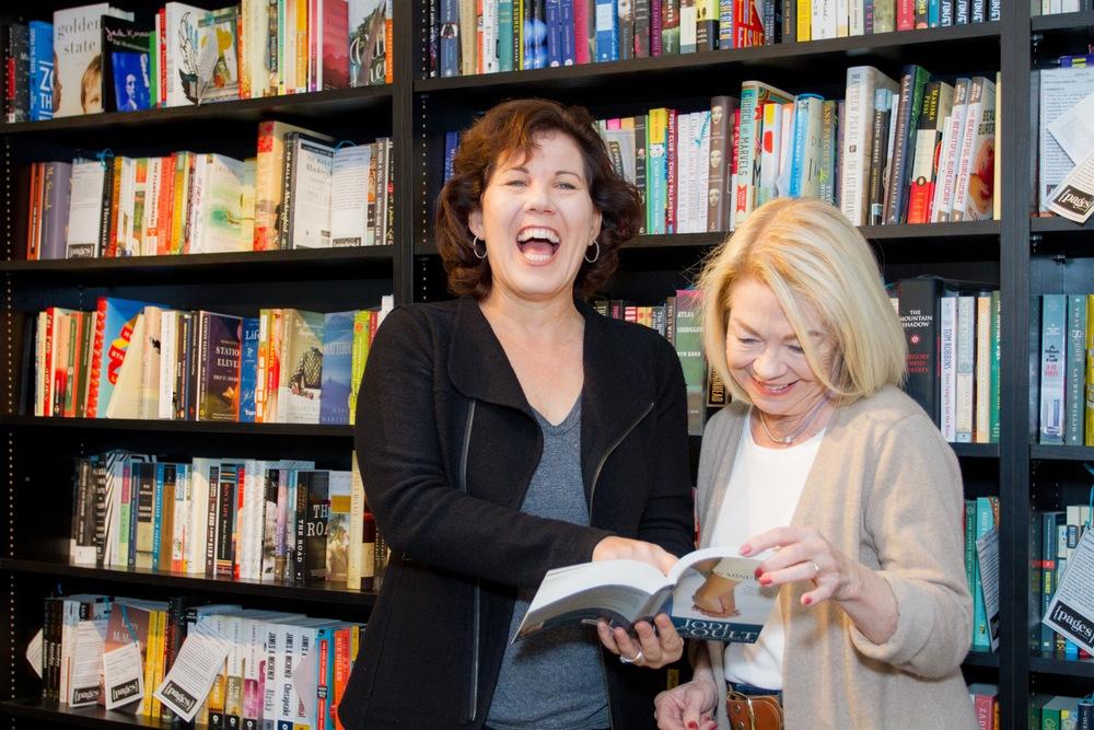 Founder Jennie Nash and Author Accelerator member Mary Jo Hazard