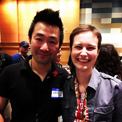 Terri with author Wesley Chu
