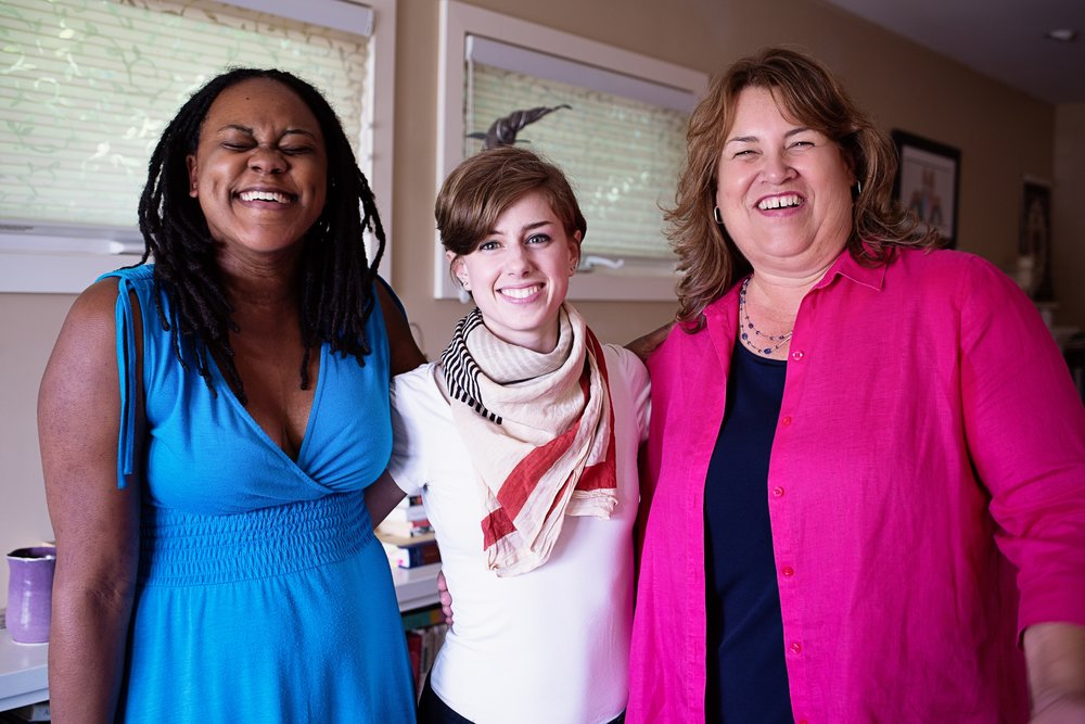 L-R:Book coach Lizette Clarke // Managing Editor Laura Franzini // Author Accelerator writer Lorrie Tom, who worked with Lizette for 6 months on her memoir.