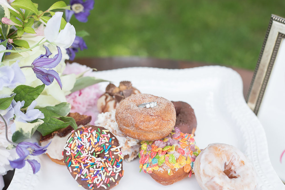 Donut pop up for North Shore wedding