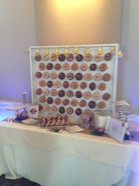 Donut Wall for Newburyport Wedding