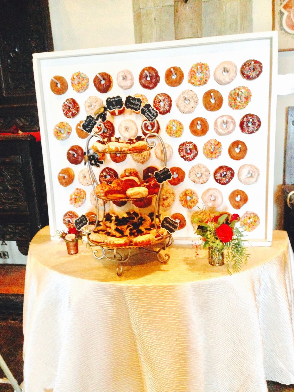 Donut Wall at Gloucester wedding