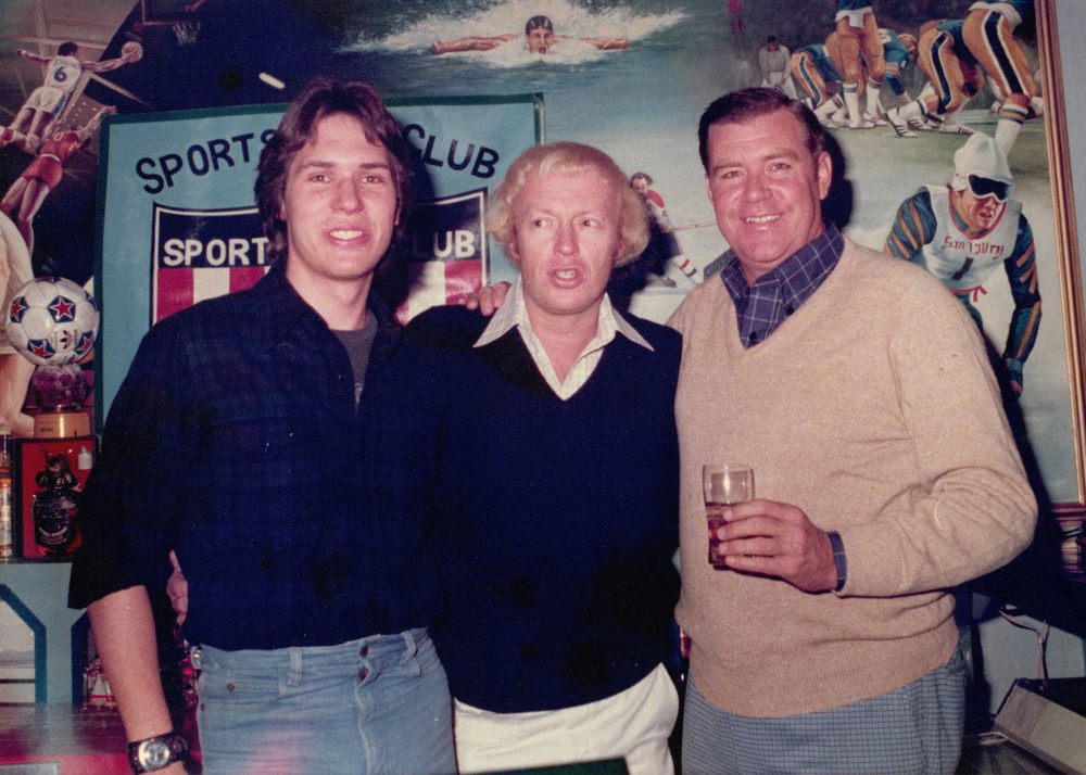 Left to right: Brent James, Phil Knight, and Casey (owner of the Sportsman's ClubBar) Korea,  1977