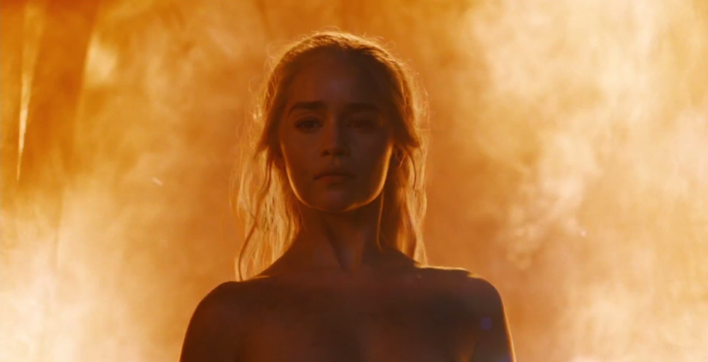 Daenerys high on endorphins...
