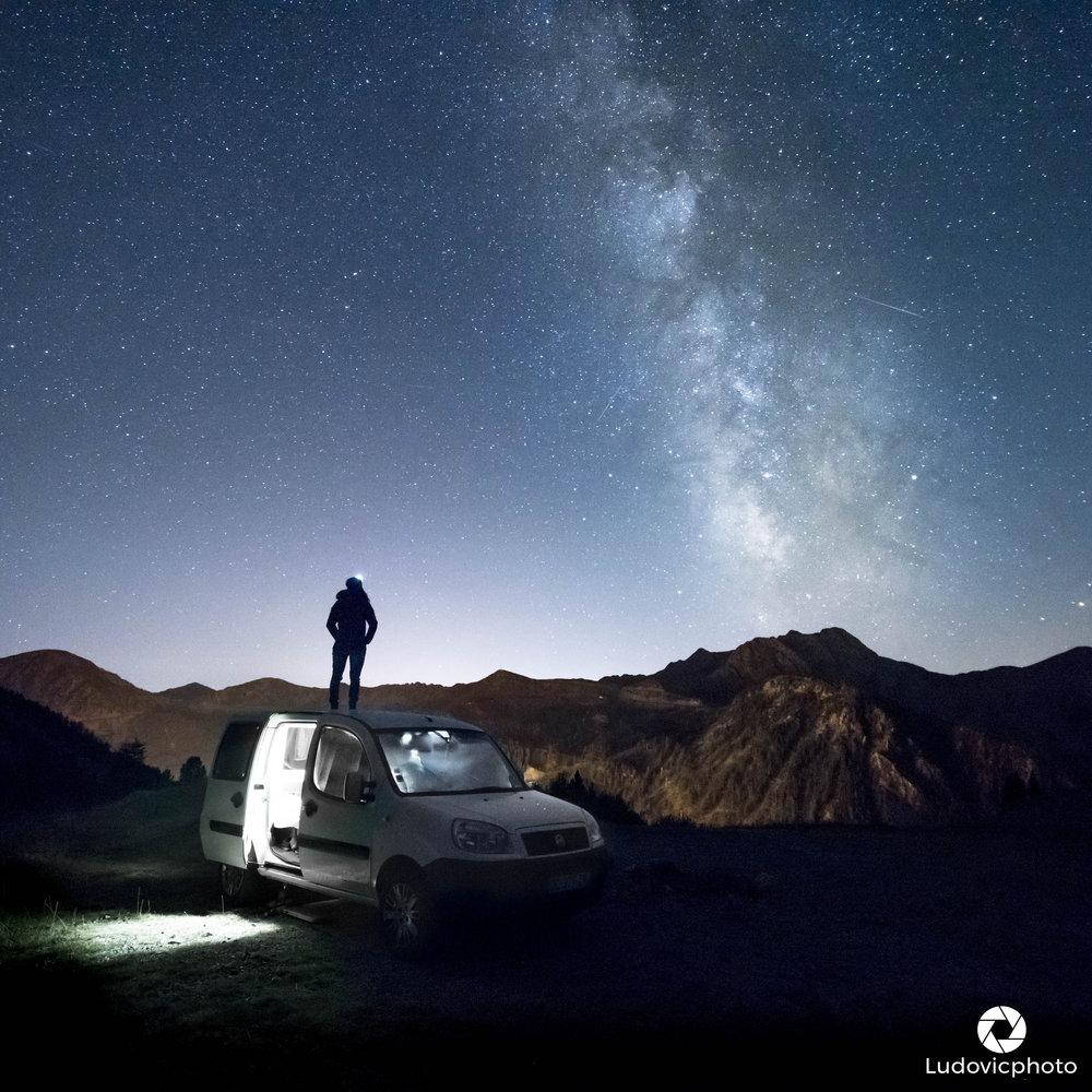 Une nuit la tête dans les étoiles près de la Frontière Franco-Italienne