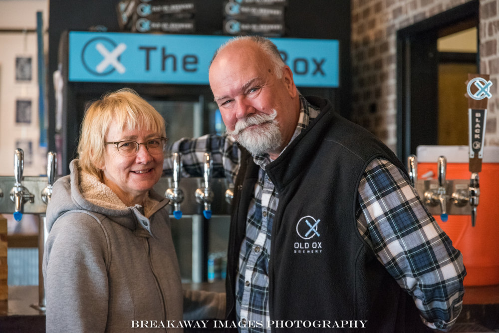 Mary and Graham Burns of Old Ox Brewery, Ashburn, VA