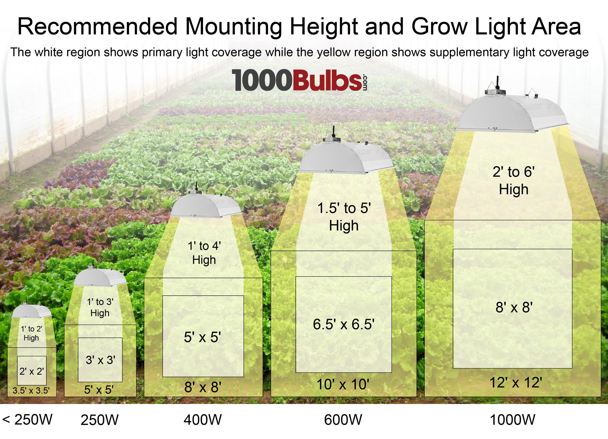 Led Lamp Post Bulbs Grow Light Basics, Part 1: Bulbs and Coverage — 1000Bulbs ...