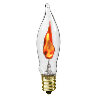 Bulbrite 410303 Clear CA5 with Flicker Flame