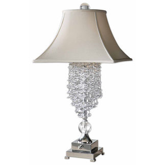 Uttermost 26894 Cascading Crystal Table Lamp