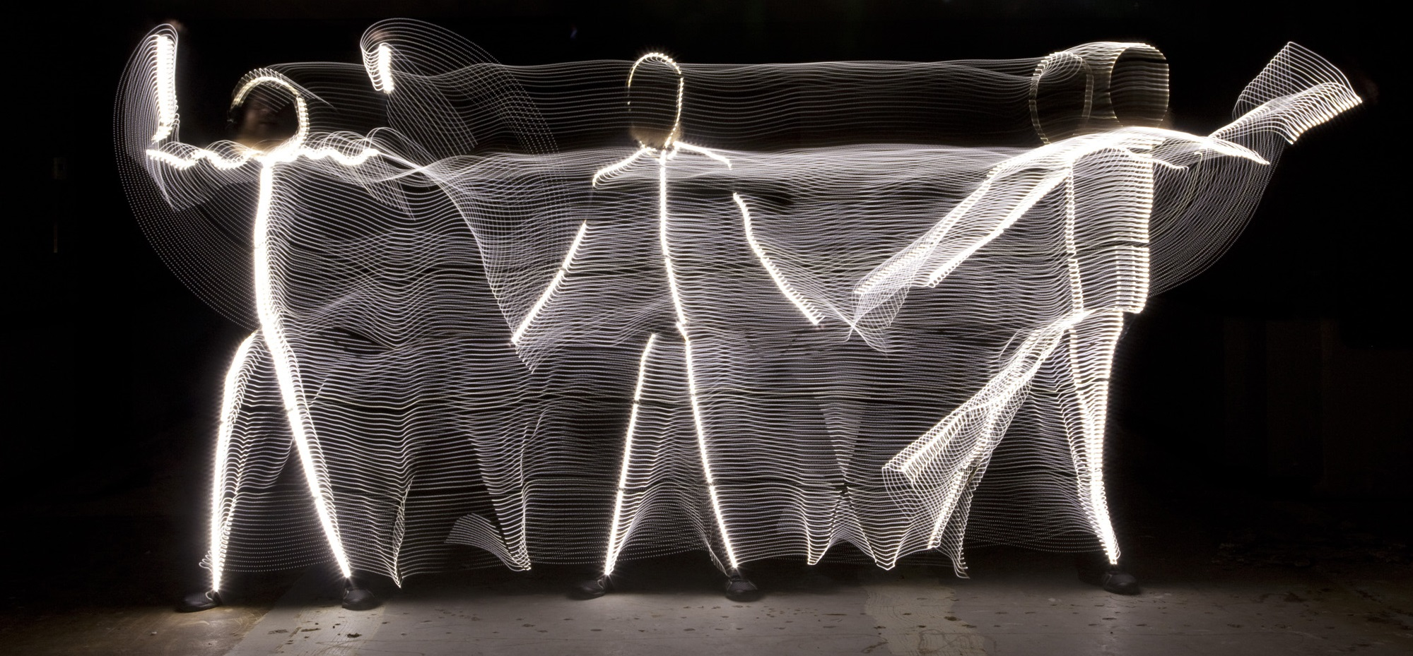 LED Light suit painting