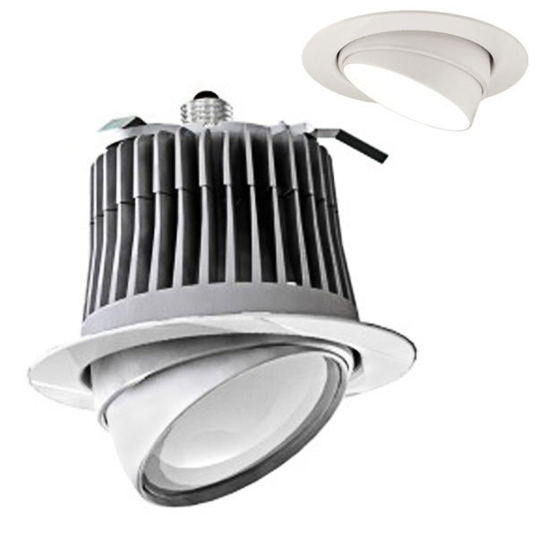 CREE-LE6US Adjustable Eyeball Trimmed Downlight