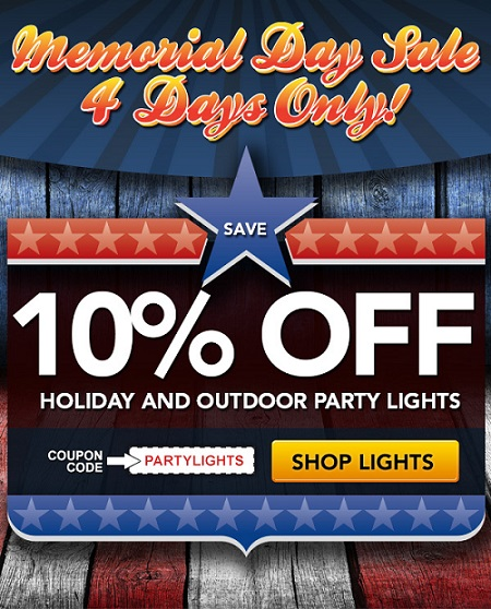 Memorial Day Sale - Save 10% on Party Lights