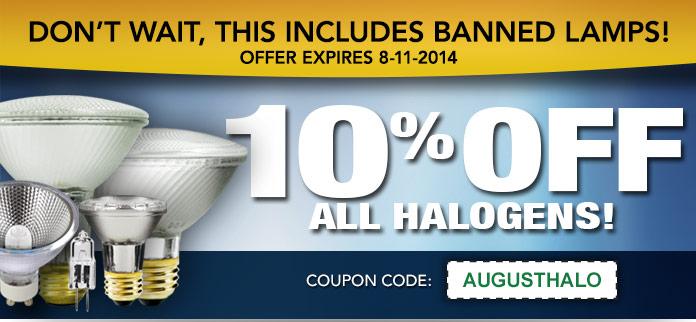 August Halogen discount