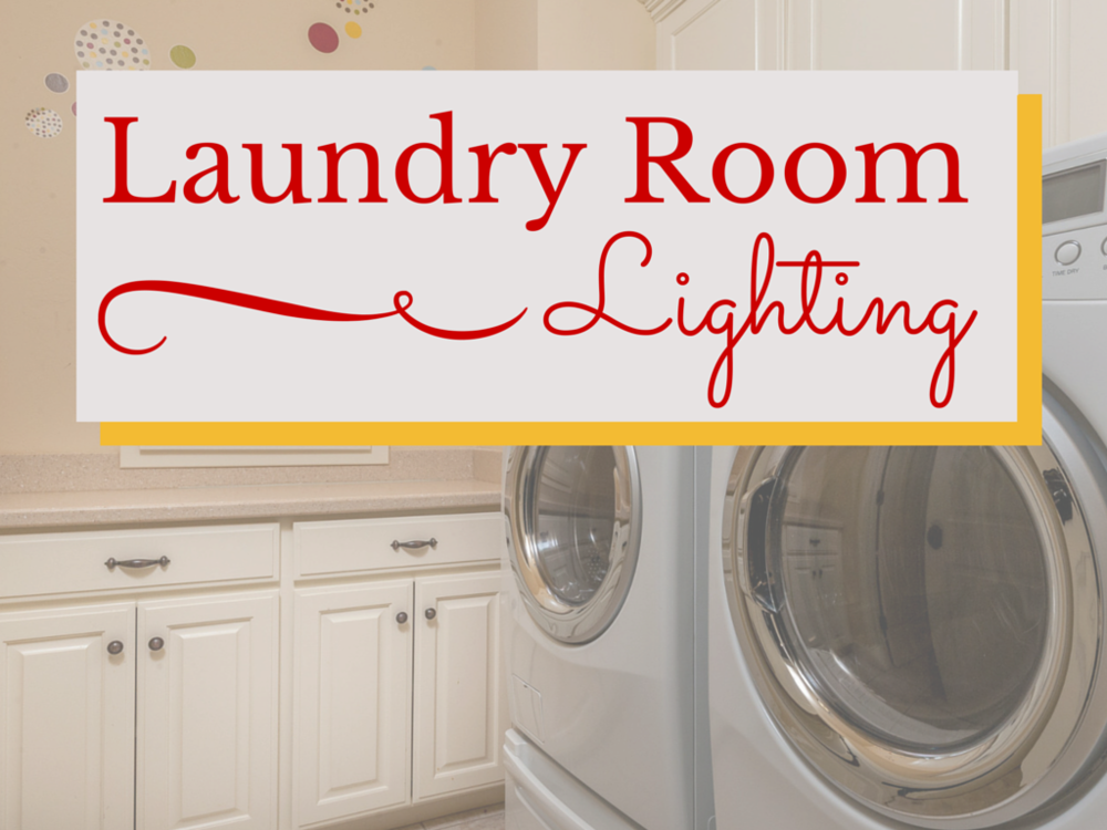 the best way to light a laundry room. Black Bedroom Furniture Sets. Home Design Ideas