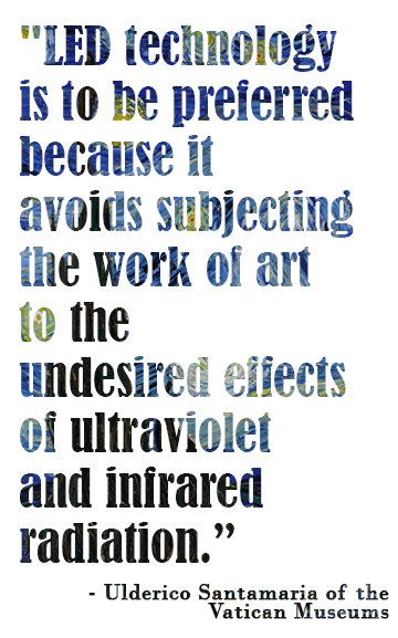 Quote from Ulderico Santamaria of the Vatican Museums
