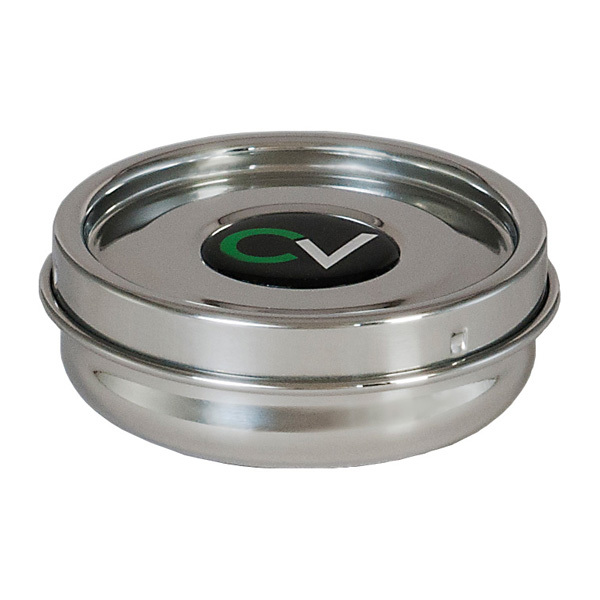 Pocket-sized stainless steel humidor