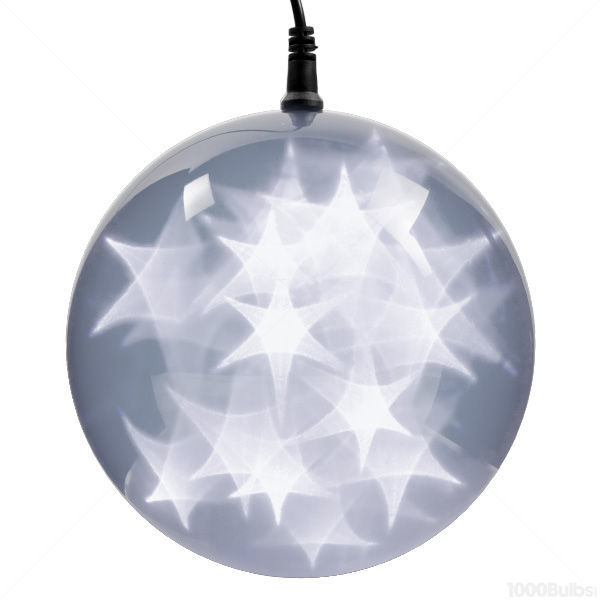 White LED holographic starfire sphere