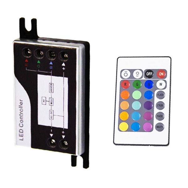 RGB controller and IR remote for LED strip lights