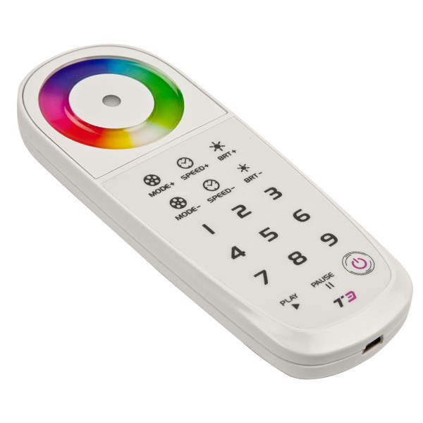 An RF remote for LED strip lights