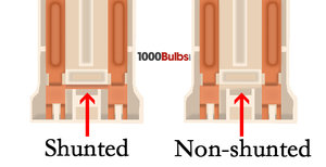 shunted vs non-shunted socket diagram