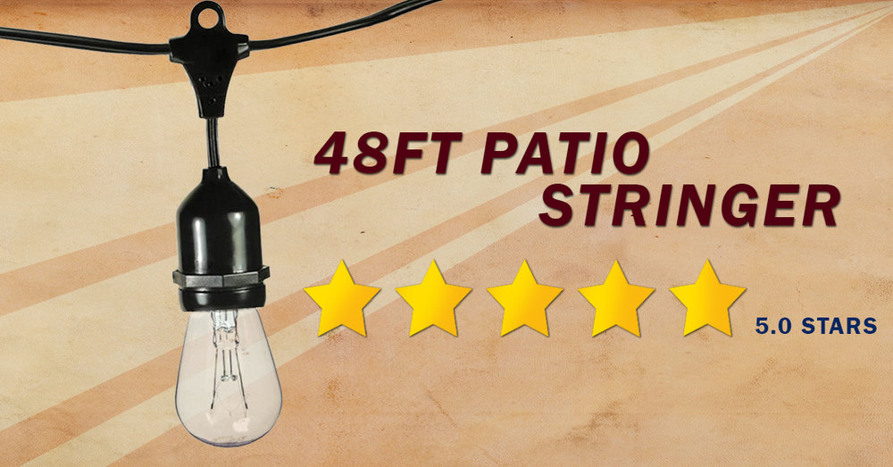 Looking for the best suspended socket patio string lights?  Our customers gave this product 5 stars.