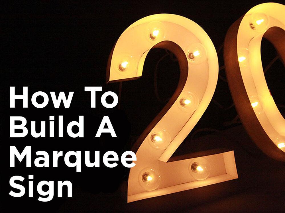 DIY Marquee Lights Bulbscom Blog