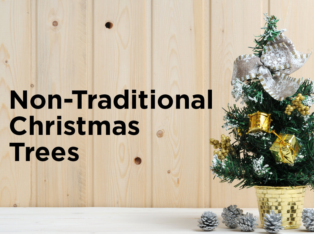 5 non traditional christmas trees