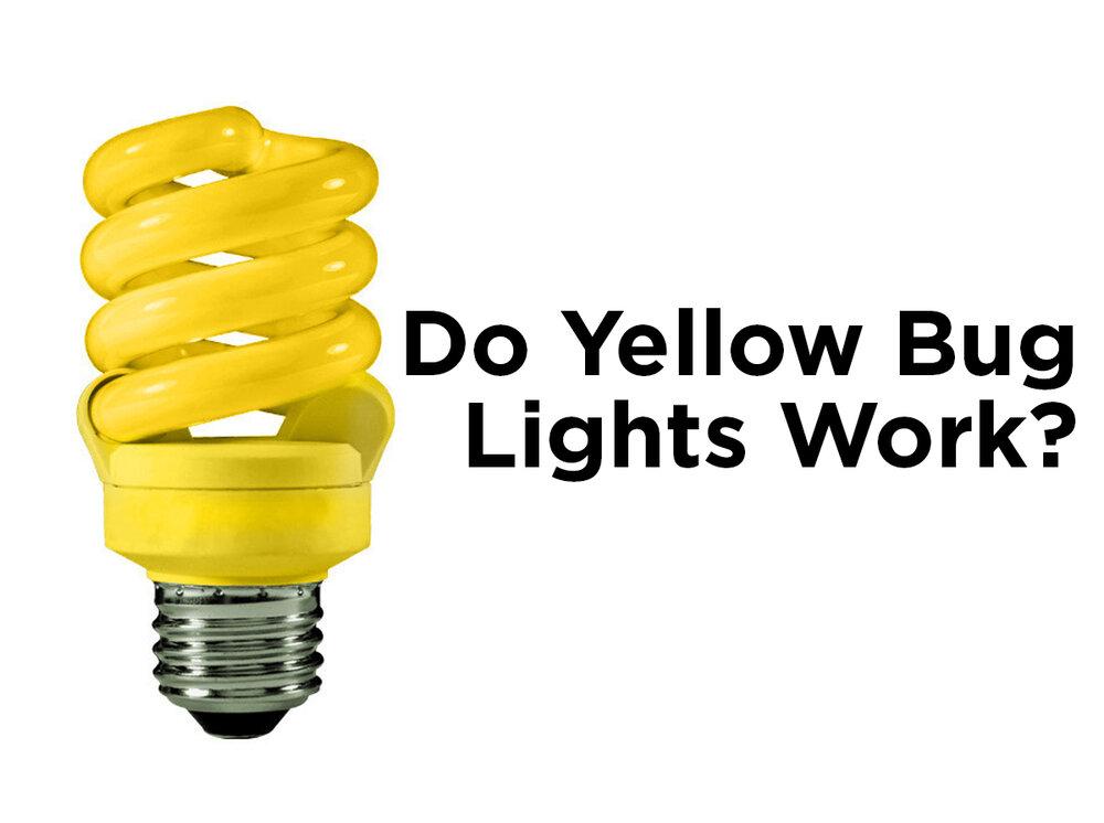 Do Yellow Bug Light Bulbs Work Blog