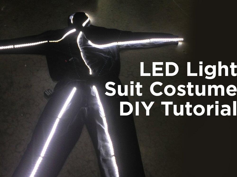 LED Light Suit Costume DIY Tutorial